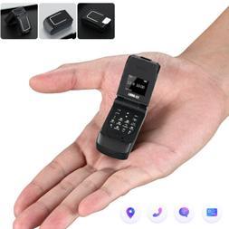 Unlocked Black World Mini Smallest Flip Mobile Phone Bluetoo