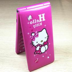 Unlocked Flip Cute Hello Kitty Student Girls Dual SIM CellPh