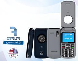 Smooth Unlocked Flip Phone 3G, SOS Big Button for Seniors w/