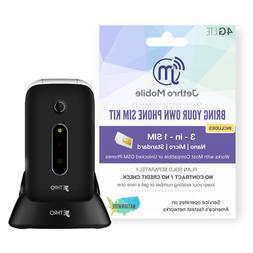 Jethro SC330v3 3G Unlocked Flip Easy Simple Phone SIM Card f