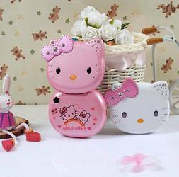 Unlocked Hello Kitty Flip Cute Lovely Small Mini Phone K688