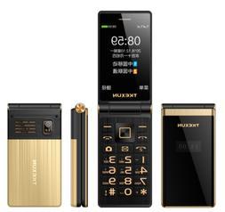 Unlocked Old Man Flip 3G Mobile Phone Touch Screen Senior On