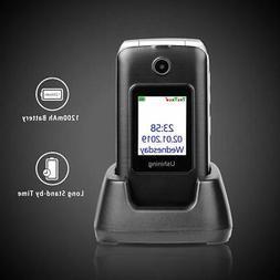Unlocked Senior Flip Cell Phone Big Button Hearing Aids Dual