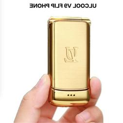"Unlocked Smallest Flip Ulcool V9 Phone 1.54""Screen Bluetooth"