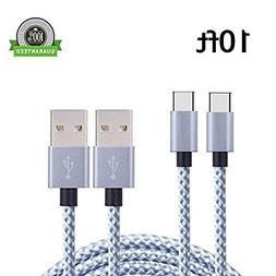 USB Type C Cable, Asstar USB C to USB A  Long Nylon Braided