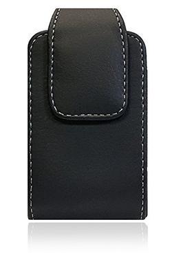 AccessoryHappy Vertical Leather Belt Case, 360 Rotating PU L