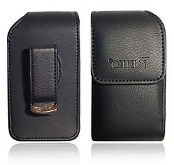 Vertical Reiko Leather Pouch, Holster Flip Phone Belt Case F