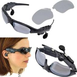 Wireless Flip-up Sunglasses Bluetooth Stereo Music Headphone