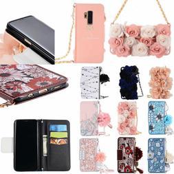 Women Flip Leather Handbag Chain Wallet Card Phone Case Cove