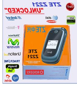 ZTE Z221 Flip Phone 'UNLOCKED