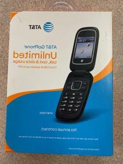ZTE Z223 - Black   Cricket - H2O - Net10 - AT&T  -  Flip Pho