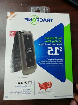 ZTE Z233 VL TracFone prepaid TFZEZ233VCGYP Gray Flip Cell Ph
