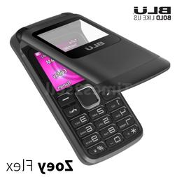 "BLU Zoey Flex Z130 1.8"" Cell Phone Flip VGA Unlocked Dual SI"