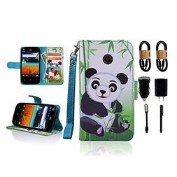 for ZTE N818S QLink Wireless Case Wallet Grip Kickstand Pouc