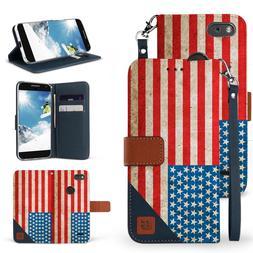 For ZTE Phone Series Folio Denim Wallet Flip Kickstand Case