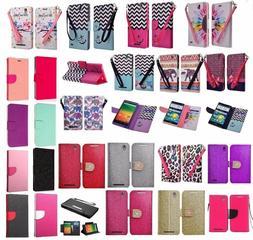 ZTE ZMAX Design Wallet Credit Card Stand Flip Phone Case Cov