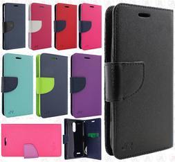 For ZTE ZMAX One Z719DL Premium Two Tone Wallet Flip Case Ph